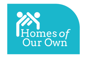 Homes of Our Own Teal Thumbnail Logo