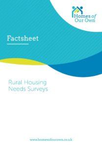 Factsheet Rural Housing Needs Survey