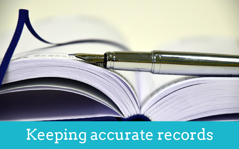 keeping accurate records thumbnail