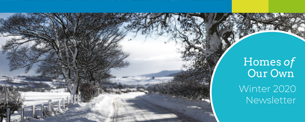 Homes of Our Own Winter 2020 Newsletter Cover Image